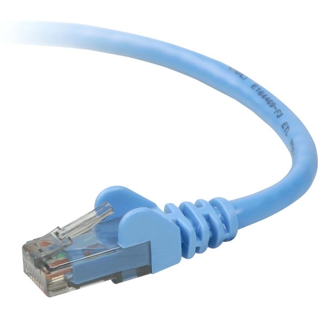10/' Patch Cable TAA791-10-BLU-S Belkin Blue Cat5E UTP RJ45M//M Lot of 20