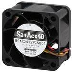 Tach 2600rpm 32.5CFM 26dB Plastic F//B 3 Wire SANYO Denki 9A0812F401 DC Fan Sq80x25mm 12VDC 1.32W