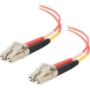 New ORTHRONICS  ST//ST-LC//LC   62.5//125 Duplex Multimode PVC Fiber Optic Cable 1M